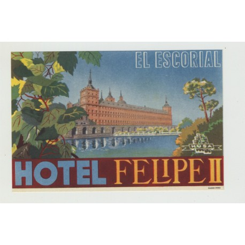 Hotel Felipe II - El Escorial / Spain (Luggage Label)