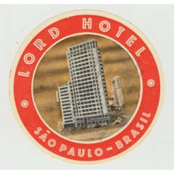 Lord Hotel - Sao Paulo / Brasil (Vintage Luggage Label)