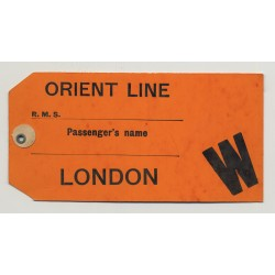 Orient Line - London / Great Britain (Vintage Luggage Tag / Label)