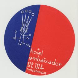 Hotel Embaixador - Beira / Mozambique (Vintage Luggage Label)