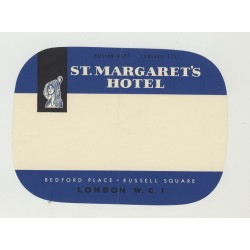 St. Margaret's Hotel - London / United Kingdom (Vintage Luggage Label)