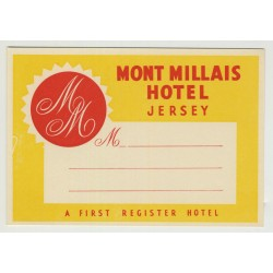 Mount Millais Hotel - Jersey / U.K. (Vintage Luggage Label)