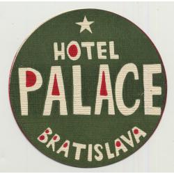 Hotel Palace - Bratislava / Slovakia (Vintage Advertisment Coaster / Beermat)