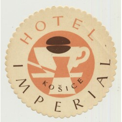 Hotel Imperial - Košice / Slovakia (Vintage Advertisment Coaster / Beermat)