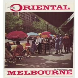 Hotel Oriental - Melbourne / Australia (Vintage Luggage Label)