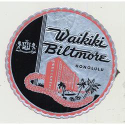 Waikiki Biltmore (Massaylia Hotels) - Honolulu Hawaii / USA (Vintage Luggage Label)