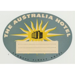 The Australian Hotel - Sydney / Australia (Vintage Luggage Label)