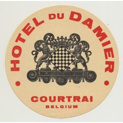 Hotel Du Damier - Courtrai / Belgium (Vintage Luggage Label)