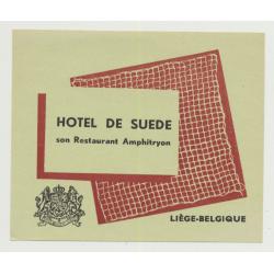 Hotel De Suede - Liège / Belgium (Vintage Luggage Label)