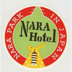 Nara Hotel - Nara Park / Japan (Vintage Luggage Label)