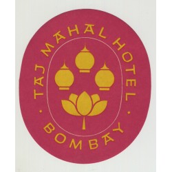 Taj Mahal Hotel - Bombay / India (Vintage Luggage Label)