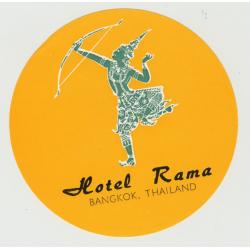 Hotel Rama - Bangkok / Thailand (Vintage Luggage Label)