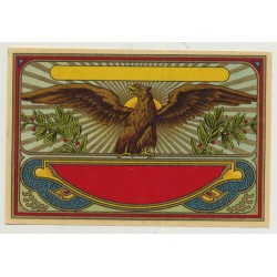 Eagle Spreads Wings (Vintage Chromo Litho Label ~1910/1920s)