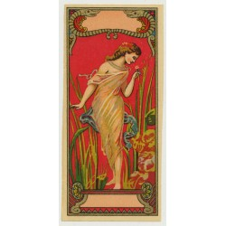 Art Nouveau Nymph (Vintage Chromo Litho Label ~1910/1920s)