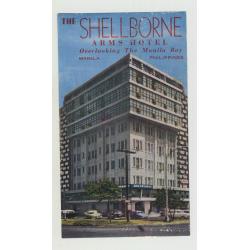 The Shellborne Arms Hotel - Manila / Philippines (Vintage Luggage Label)