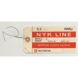 Nippon Yusen Kaisha N.Y.K. Line (Vintage Shipping Line Luggage Tag)