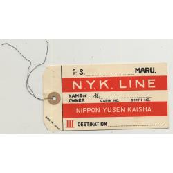 Nippon Yusen Kaisha N.Y.K. Line 2 (Vintage Shipping Line Luggage Tag)