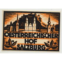 Oesterreichischer Hof - Salzburg / Austria (Vintage Luggage Label ~1930s)