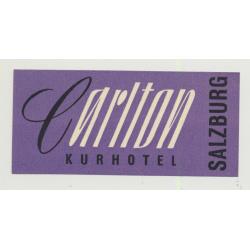 Carlton Kurhotel - Salzburg / Austria (Vintage Luggage Label)
