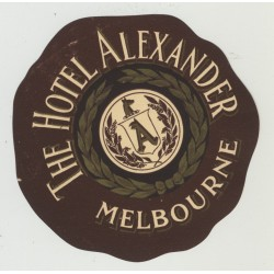 The Hotel Alexander - Melbourne / Australia (Vintage Luggage Label)