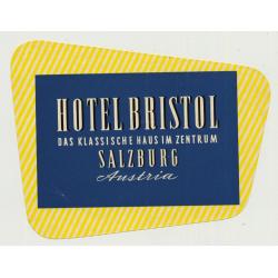 Hotel Bristol - Salzburg / Austria (Vintage Luggage Label)