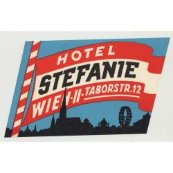 Hotel Stefanie - Vienna (Wien) / Austria (Vintage Luggage Label)