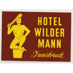 Hotel Wilder Mann - Innsbruck / Austria (Vintage Luggage Label)