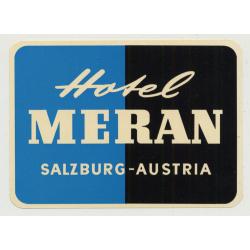 Hotel Meran - Salzbug / Austria (Vintage Luggage Label)
