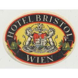 Hotel Bristol - Wien (Vienna) / Austria (Vintage Luggage Label 5.4 x 4 CM)