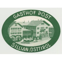 Gasthof Post - Sillian, Osttirol / Austria (Vintage Luggage Label)