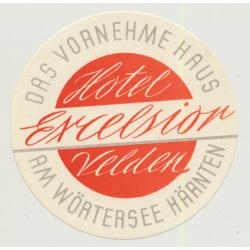 Hotel Excelsior - Velden Am Wörtersee (Vienna) / Austria (Vintage Luggage Label)