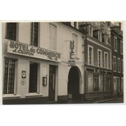 14230 Insigny-sur-Mer: Street View Hotel Commerce (Vintage Photo France B/W 1963)