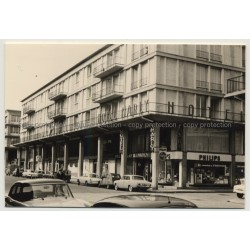 76600 Le Havre: Street Scene & Hotel Le Marly (Vintage Photo France B/W 1963)