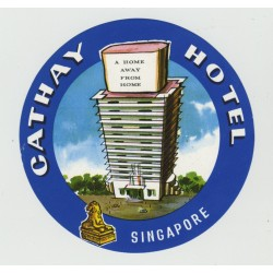 Cathay Hotel - SIngapore (Vintage Luggage Label)