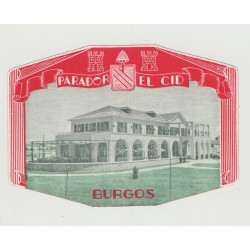 Parador El Cid - Burgos / Spain (Vintage Luggage Label)