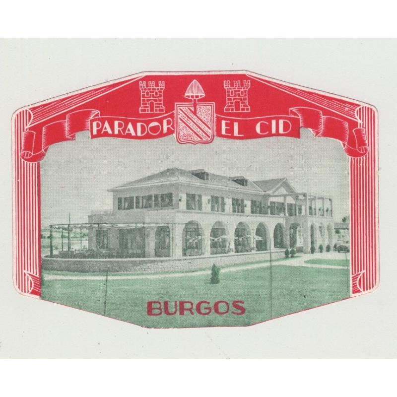 Parador El Cid - Burgos / Spain (Vintage Luggage Label)