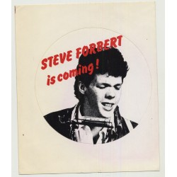 Steve Forbert Is Coming !  (Vintage Promo Sticker 1977)