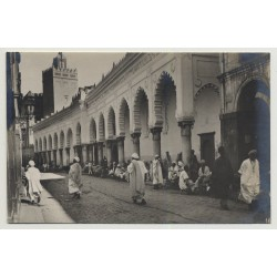 Allgiers / Algeria: Djamaa el Kebir / Great Mosque of Algiers (Vintage Photo PC B/W)