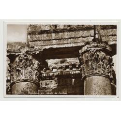 Baalbeck / Lebanon: Chapiteau Du Temple De Bacchus (Vintage Photo PC B/W)