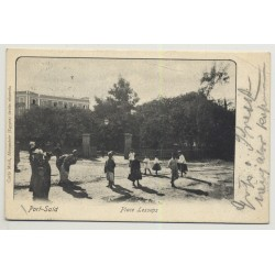 Port Said / Egypt: Place Lesseps (Vintage PC B/W 1942)