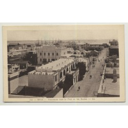 Sfax / Tunisia: View Over Port & Schools (Vintage PC B/W)
