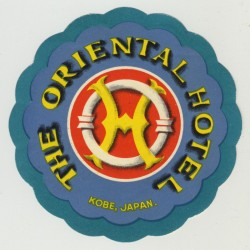 The Oriental Hotel - Kobe / Japan (Vintage Luggage Label)