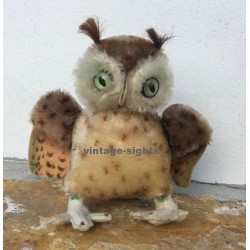 Vintage Steiff Owl 'Wittie' With Button & Tag 4314 - 1959-1967