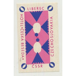 Hotel Ceska Beseda - Liberec / Czech Republic (Vintage Luggage Label)