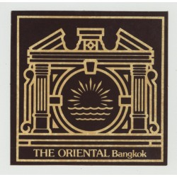 The Oriental - Bangkok / Thailand (Vintage Self Adhesive Luggage Label)