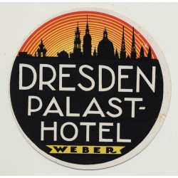 Palasthotel Weber - Dresden / East Germany DDR (Vintage Luggage Label)
