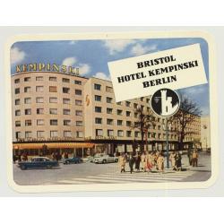 Bristol Hotel Kempinsky - Berlin / Germany (Vintage Luggage Label)