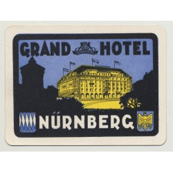 Grand Hotel - Nürnberg / Germany (Vintage Luggage Label: 1925)