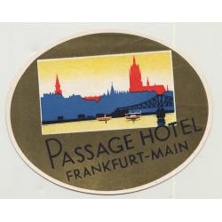 Passage Hotel - Frankfurt-Main / Germany (Vintage Luggage Label: ~1930s)