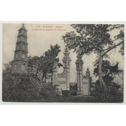 Tonkin - Hanoi / Vietnam: Entrée De La Pagode Du Pinceau (Vintage Postcard)